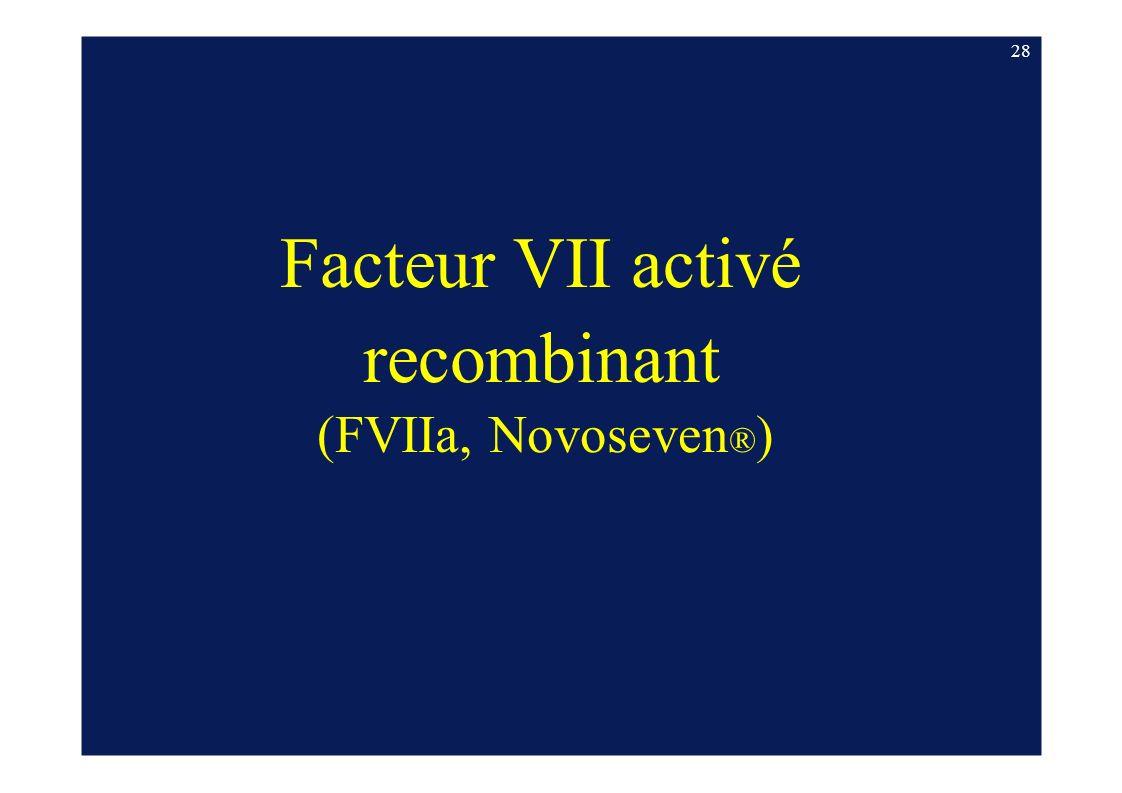 28 Facteur VII activé recombinant (FVIIa, Novoseven®)