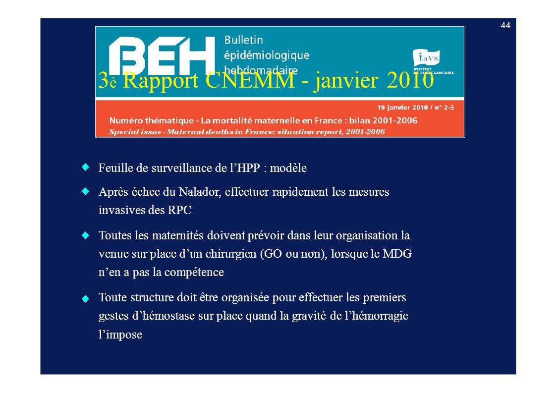 3è Rapport CNEMM - janvier 2010