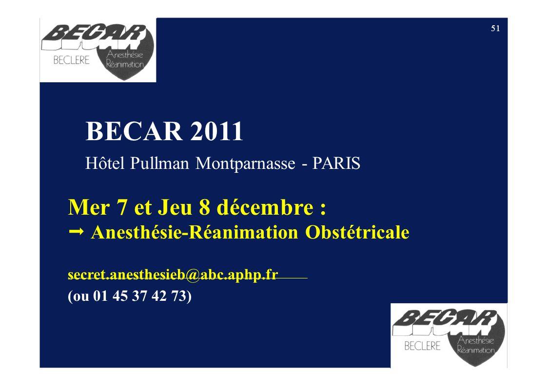 Mer 7 et Jeu 8 décembre :  Anesthésie-Réanimation Obstétricale