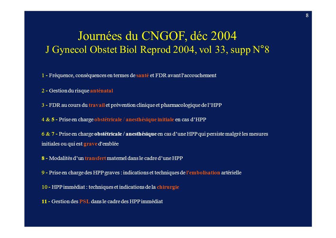 J Gynecol Obstet Biol Reprod 2004, vol 33, supp N°8