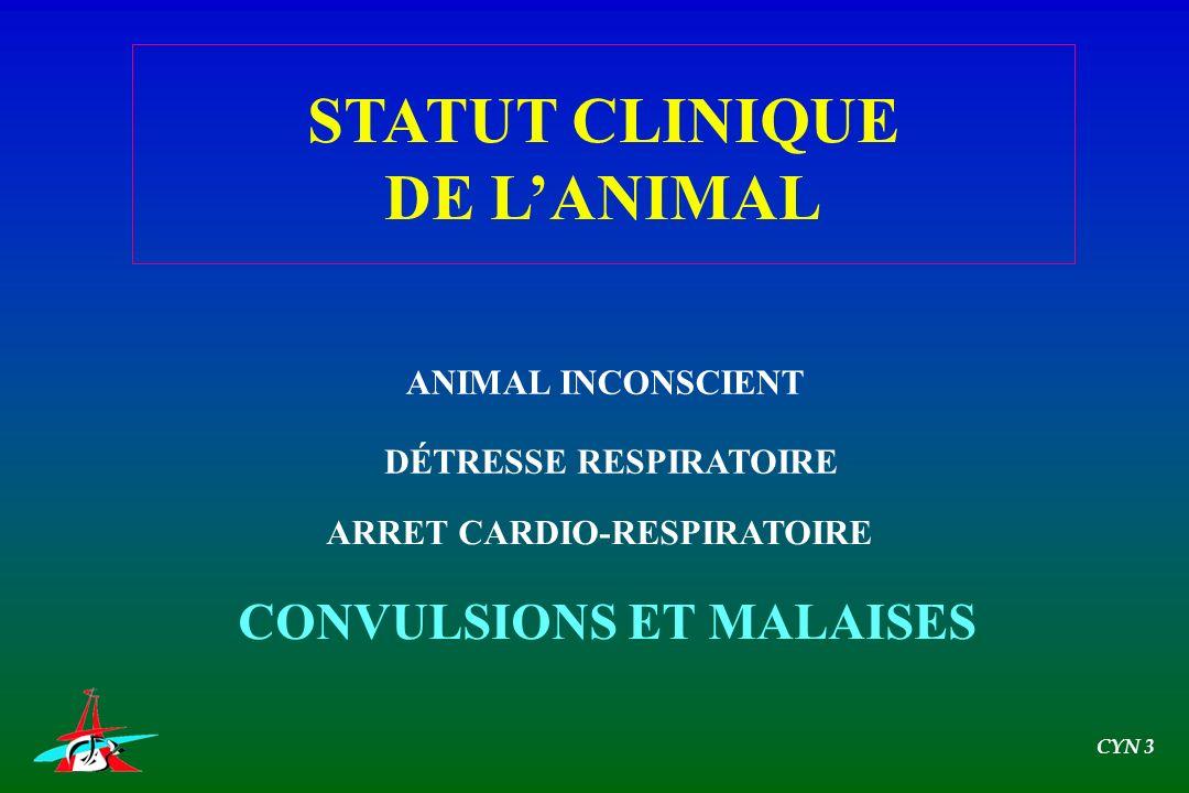 STATUT CLINIQUE DE L'ANIMAL