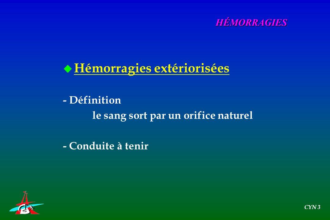 Hémorragies extériorisées