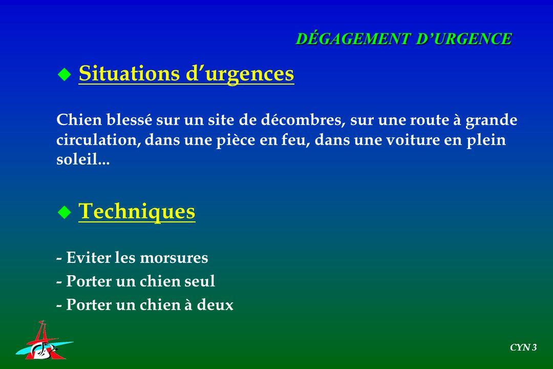 Situations d'urgences