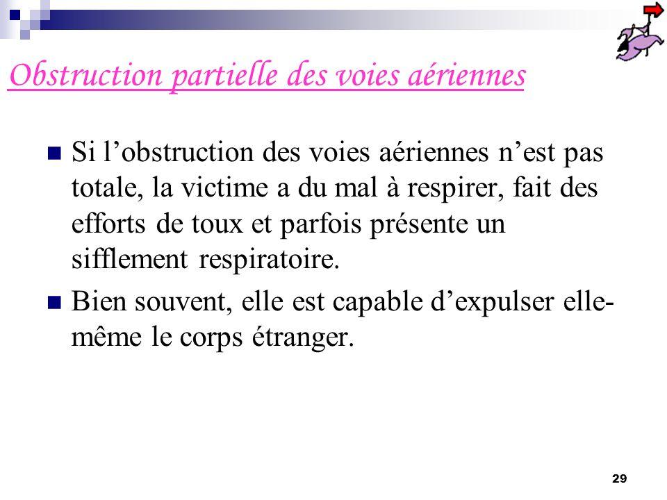 Obstruction partielle des voies aériennes