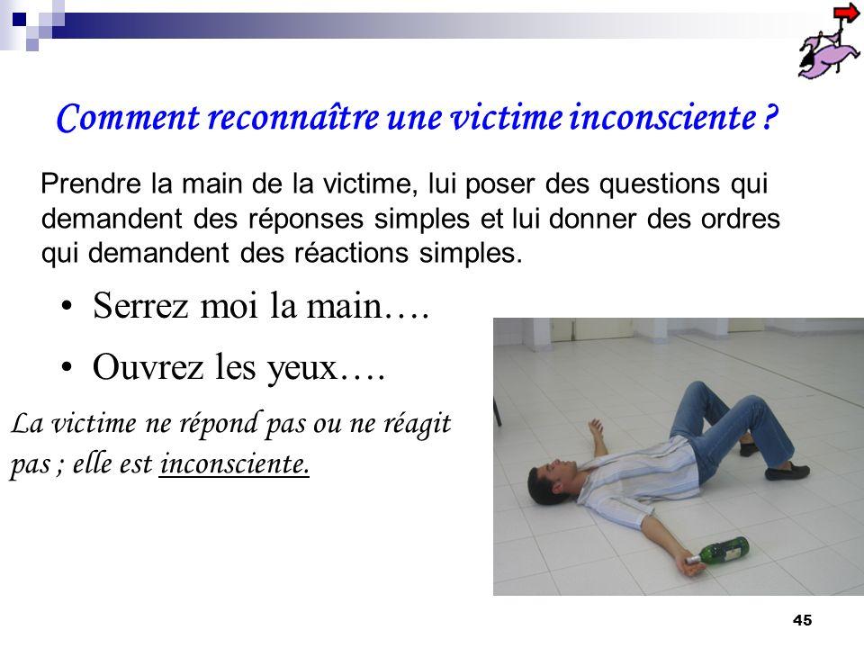 Comment reconnaître une victime inconsciente