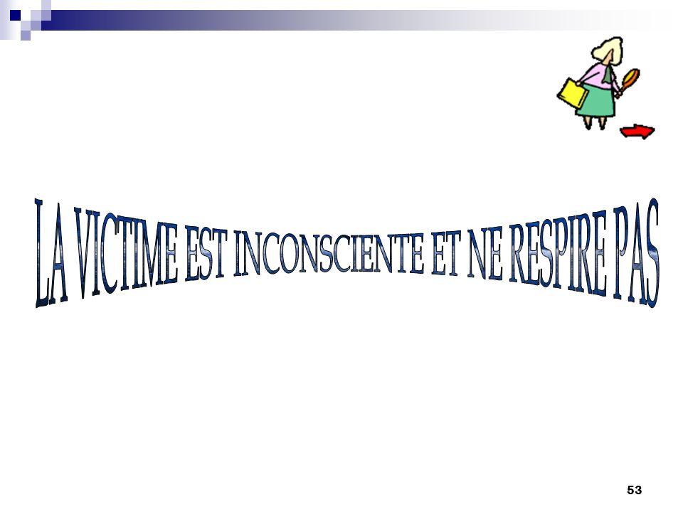 LA VICTIME EST INCONSCIENTE ET NE RESPIRE PAS