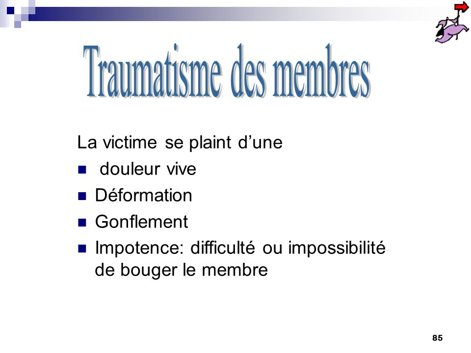 Traumatisme des membres