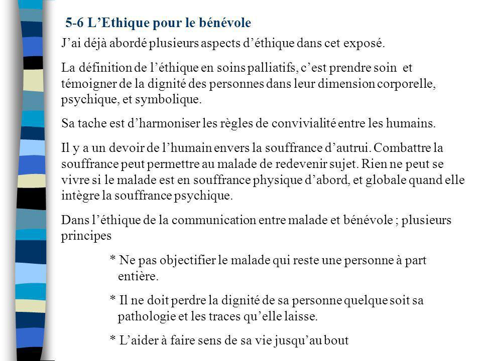 5-6 L'Ethique pour le bénévole