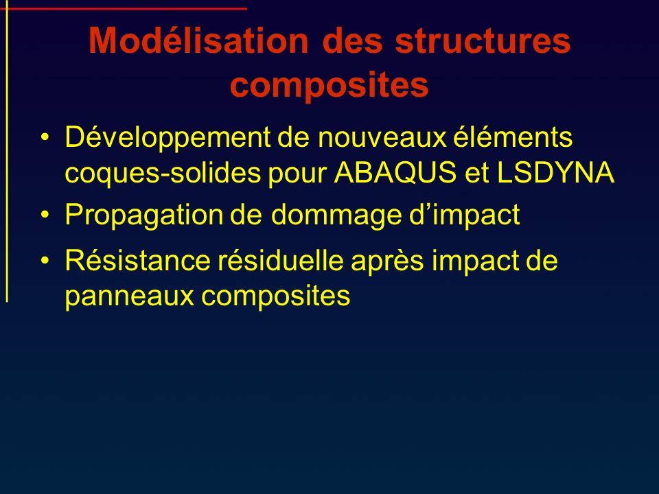 Modélisation des structures composites