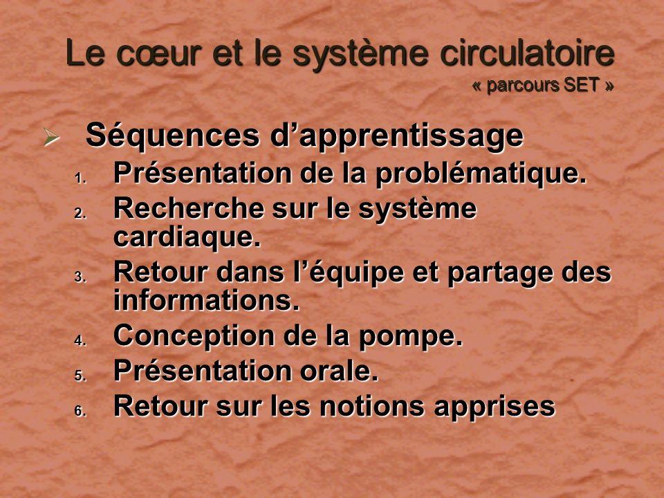 Le cœur et le système circulatoire « parcours SET »