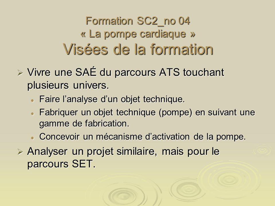 Formation SC2_no 04 « La pompe cardiaque » Visées de la formation