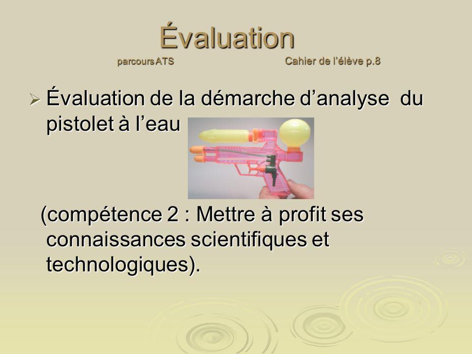 Évaluation parcours ATS Cahier de l'élève p.8