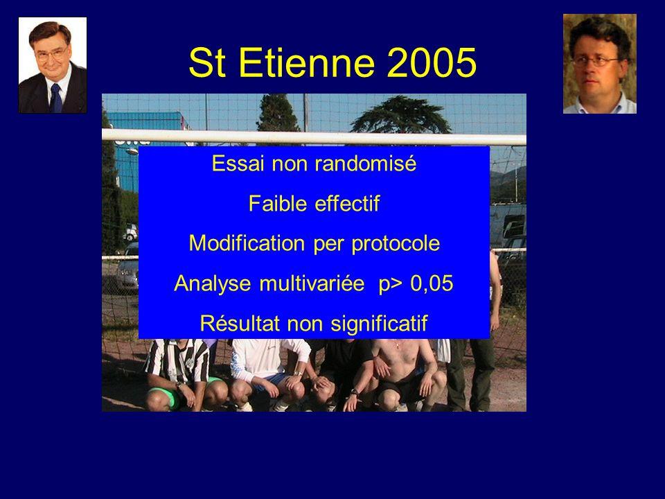 St Etienne 2005 Essai non randomisé Faible effectif