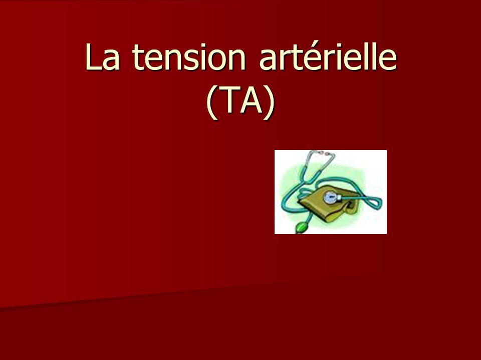 La tension artérielle (TA)