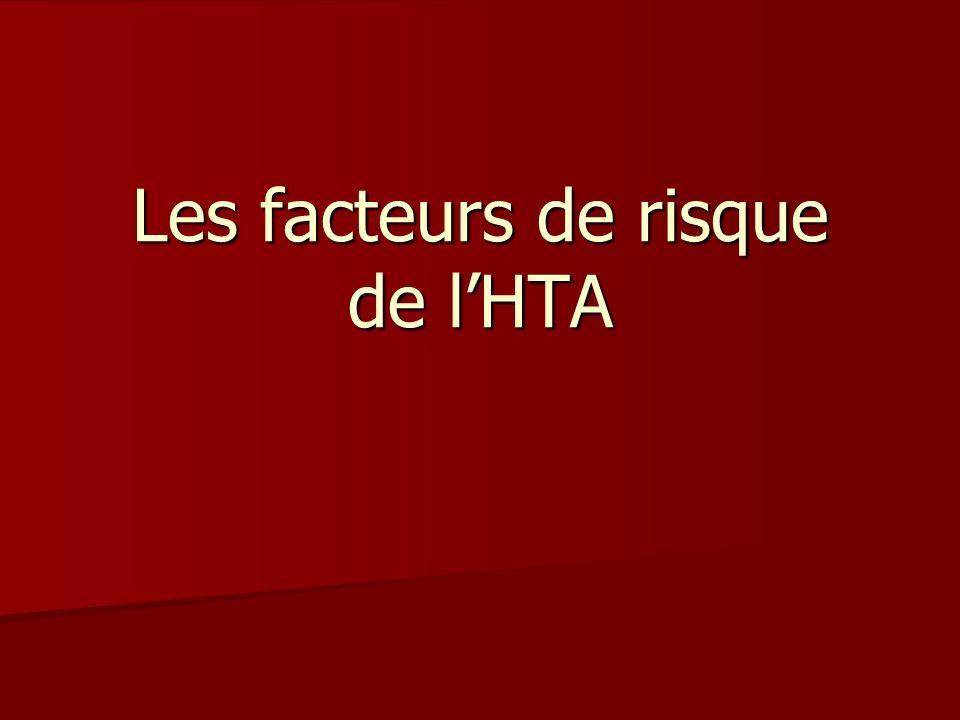 Les facteurs de risque de l'HTA