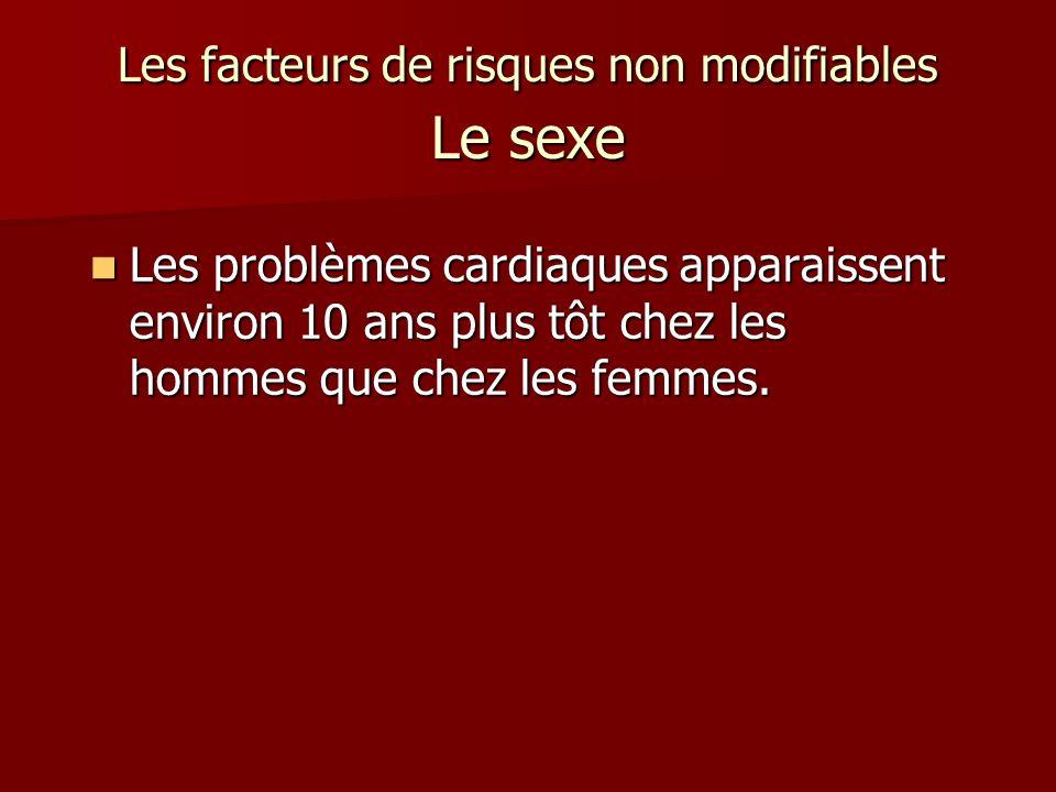 Les facteurs de risques non modifiables Le sexe