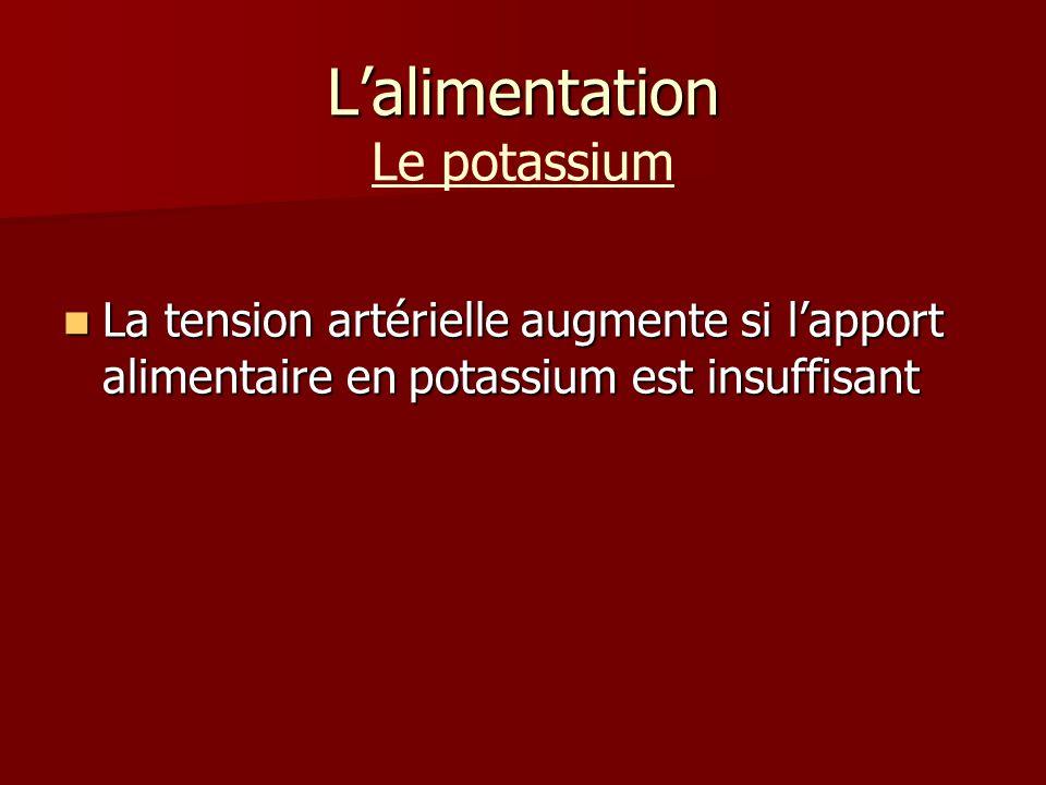 L'alimentation Le potassium