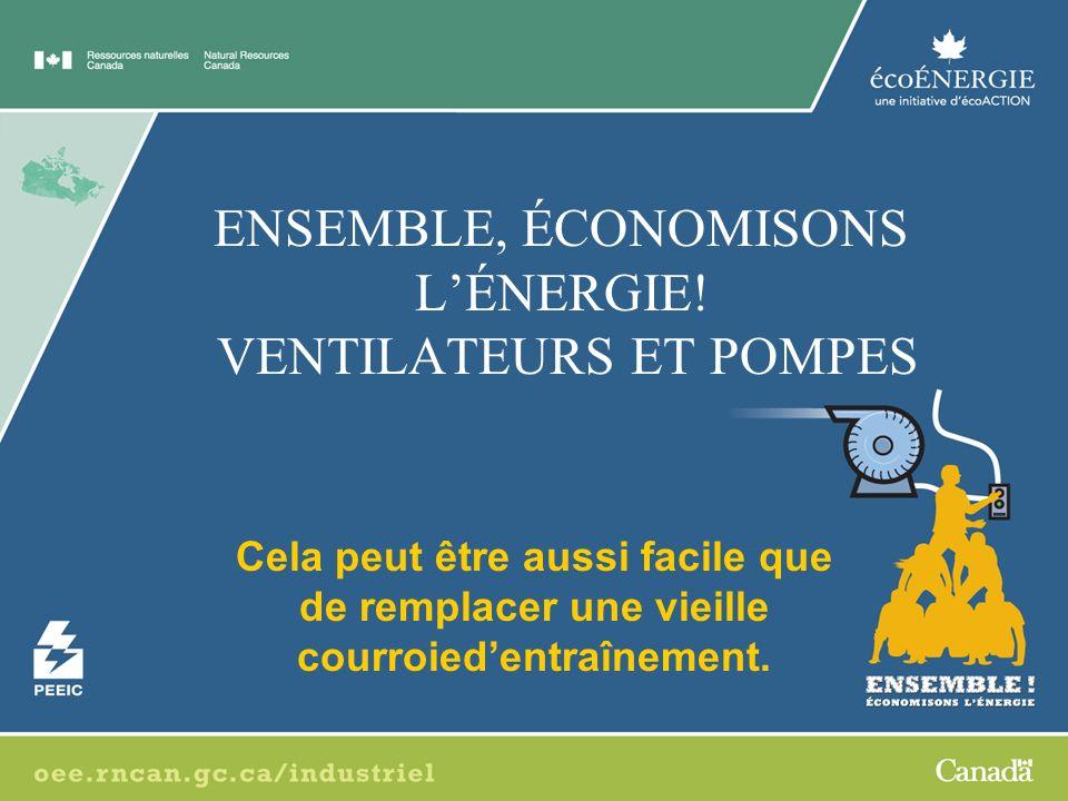 ENSEMBLE, ÉCONOMISONS L'ÉNERGIE! VENTILATEURS ET POMPES