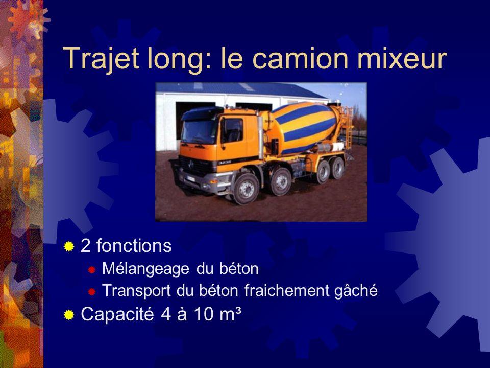 Trajet long: le camion mixeur