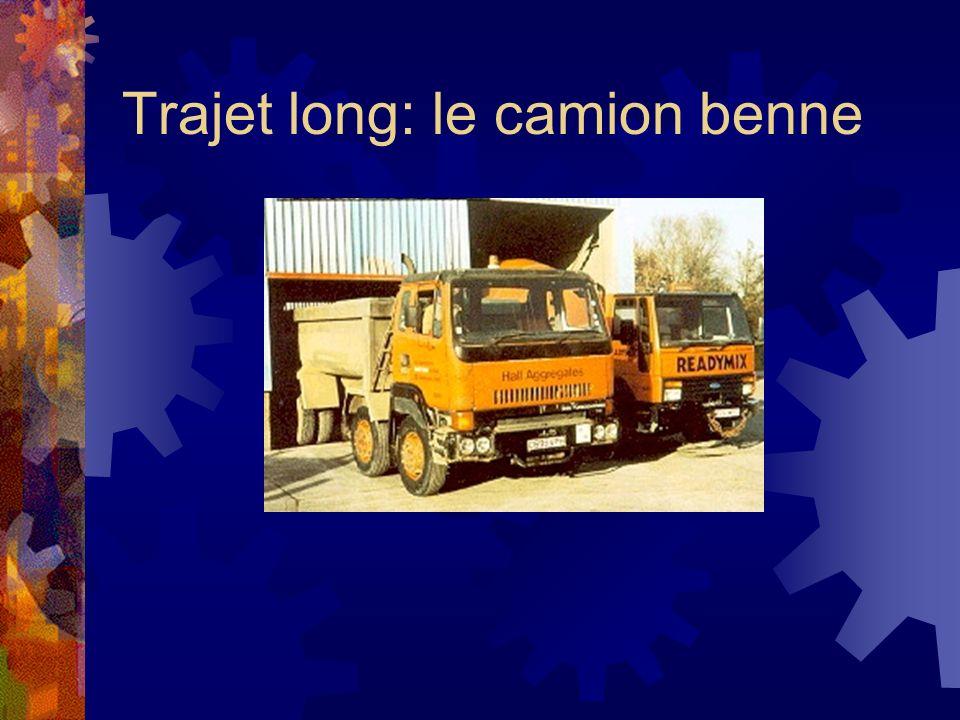 Trajet long: le camion benne