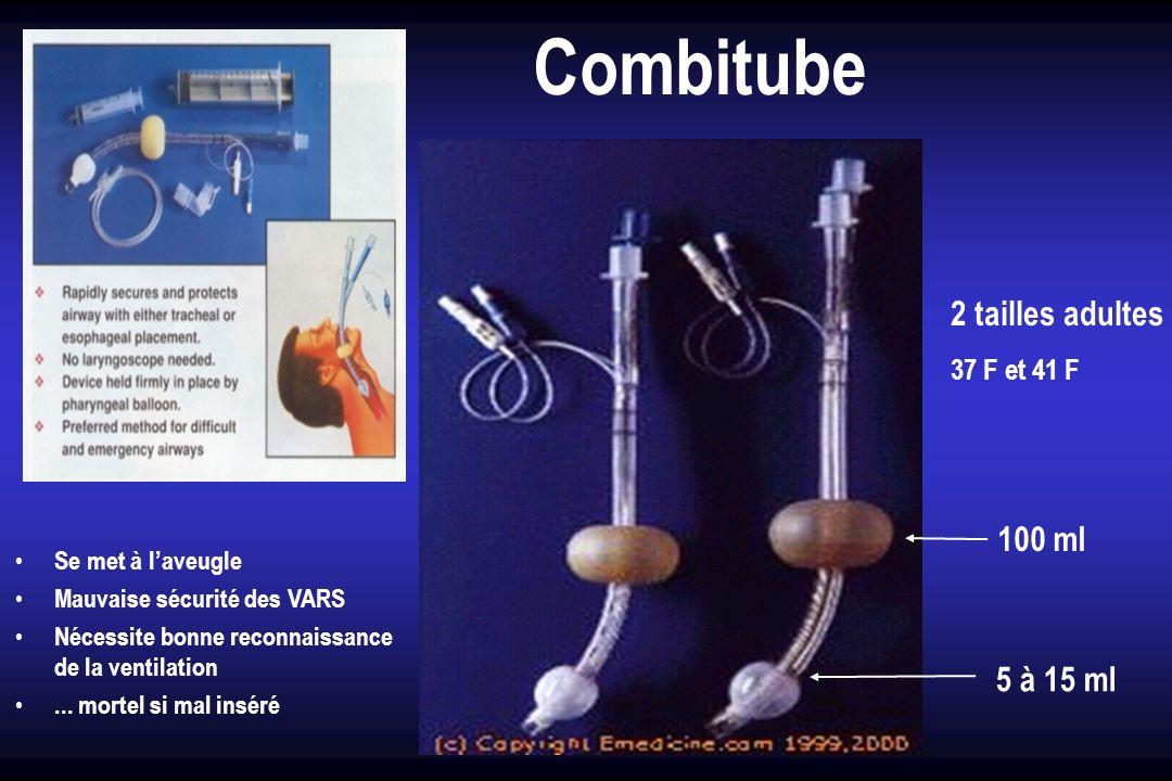 Combitube 2 tailles adultes 100 ml 5 à 15 ml 37 F et 41 F