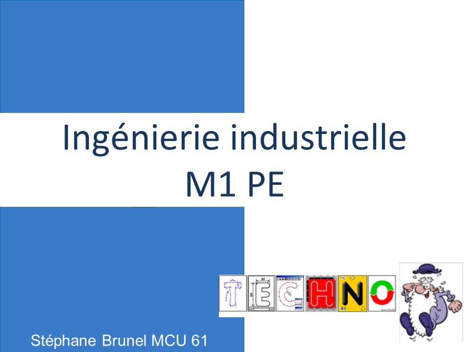 Ingénierie industrielle M1 PE