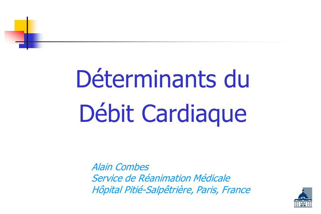 Déterminants du Débit Cardiaque