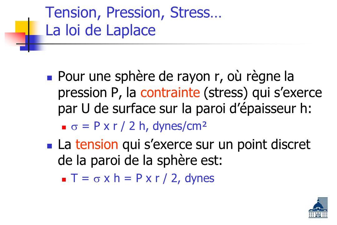 Tension, Pression, Stress… La loi de Laplace
