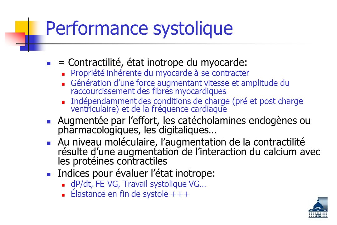 Performance systolique