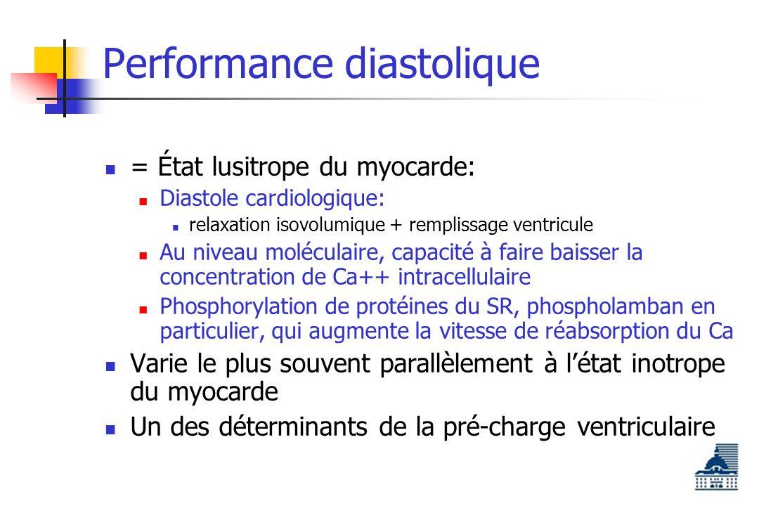 Performance diastolique