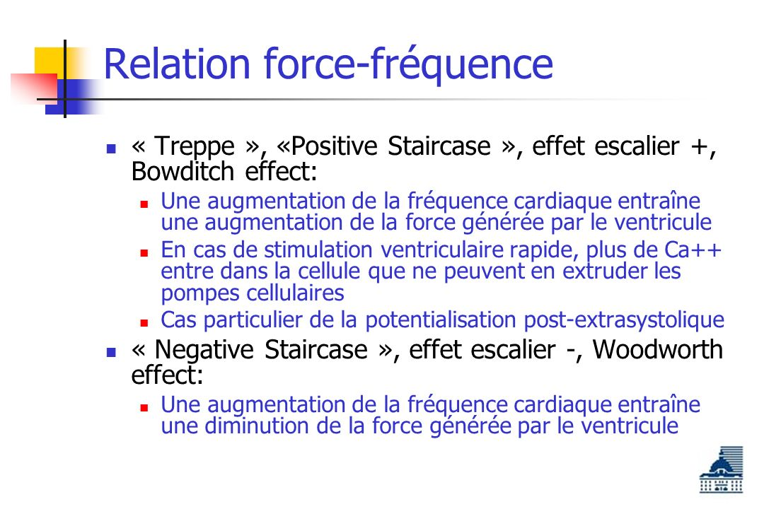 Relation force-fréquence