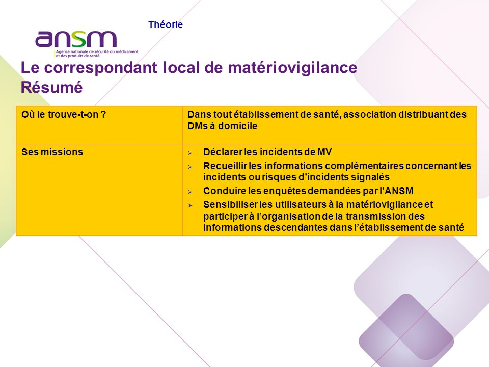 Echelon local En Pratique