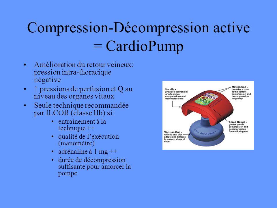 Compression-Décompression active = CardioPump
