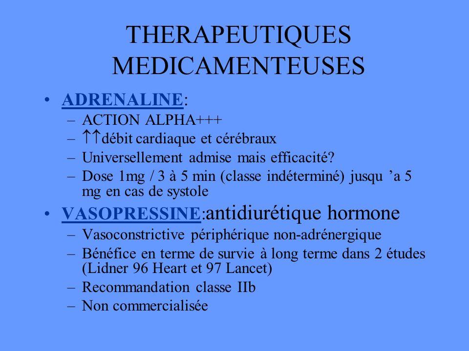 THERAPEUTIQUES MEDICAMENTEUSES