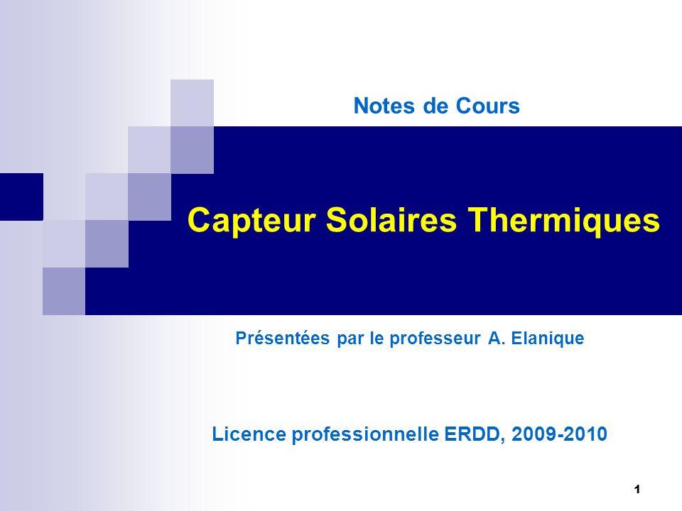 capteur solaires thermiques ppt video online t l charger. Black Bedroom Furniture Sets. Home Design Ideas
