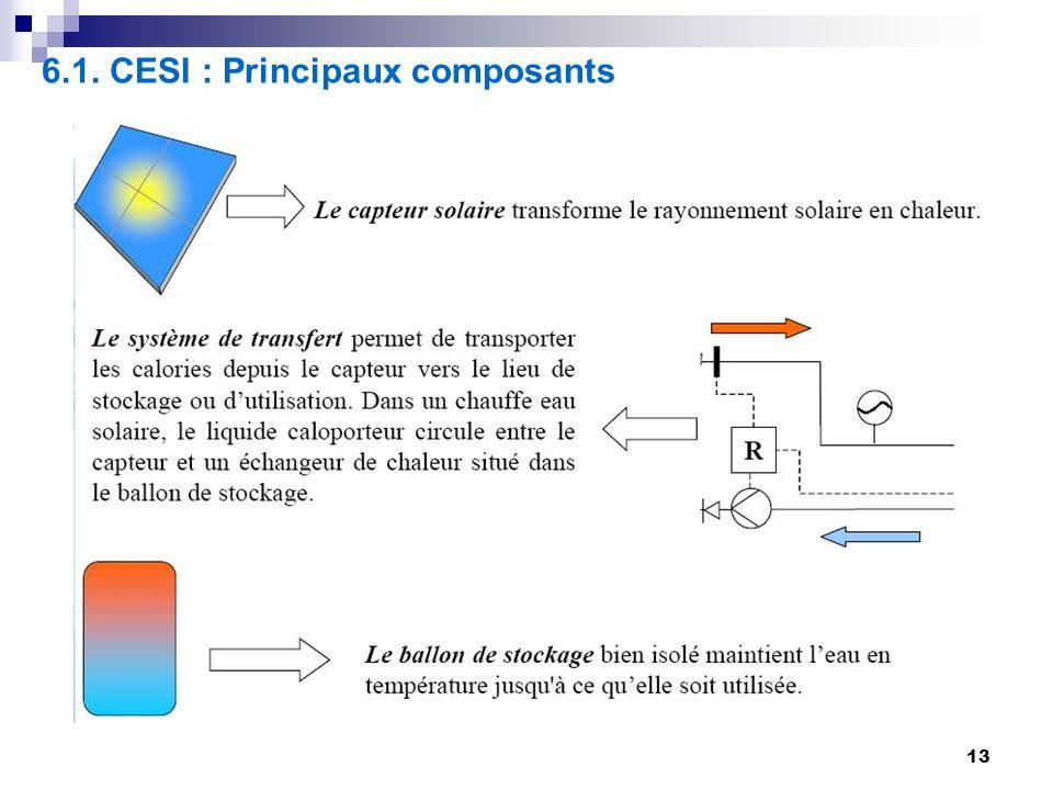 6.1. CESI : Principaux composants