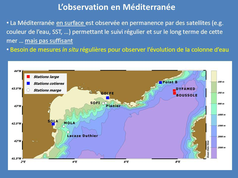 L'observation en Méditerranée