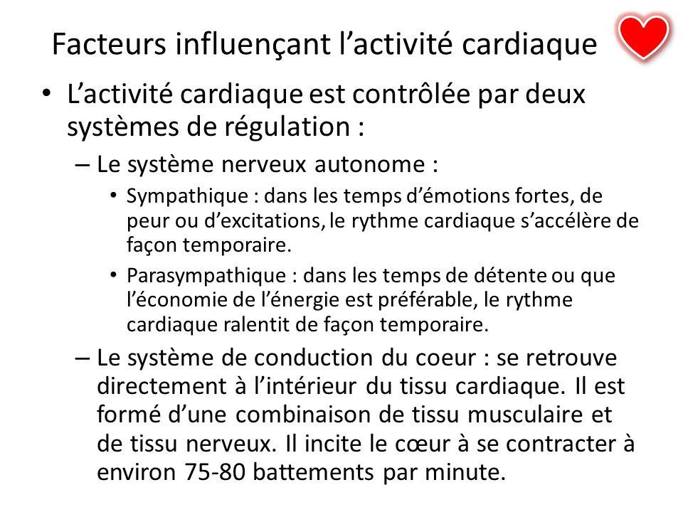Facteurs influençant l'activité cardiaque