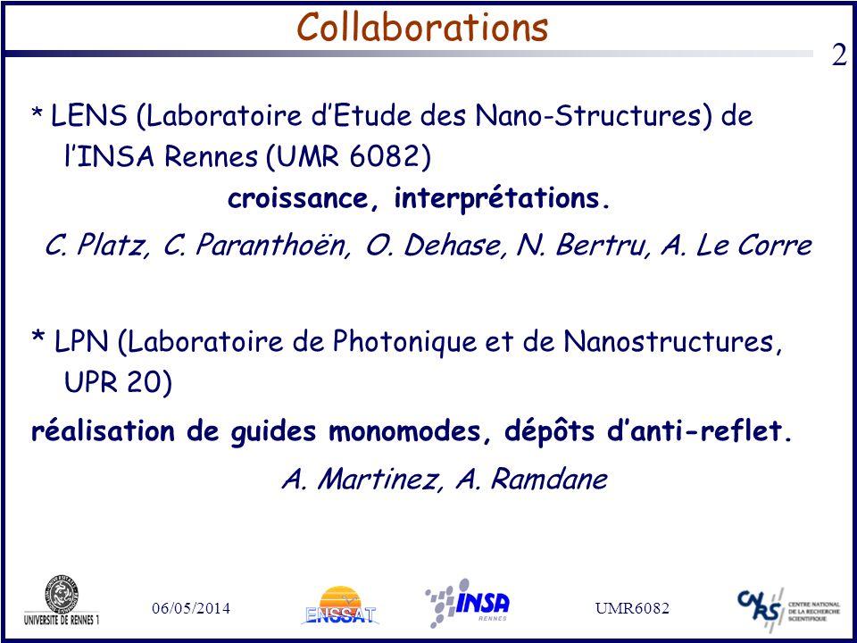 C. Platz, C. Paranthoën, O. Dehase, N. Bertru, A. Le Corre