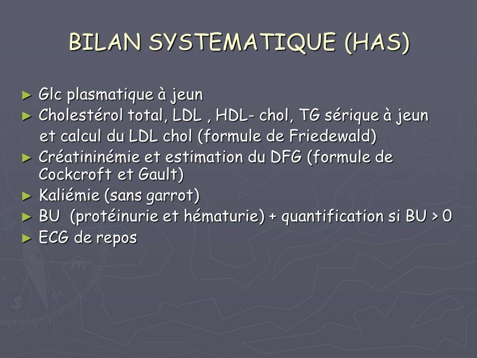 BILAN SYSTEMATIQUE (HAS)