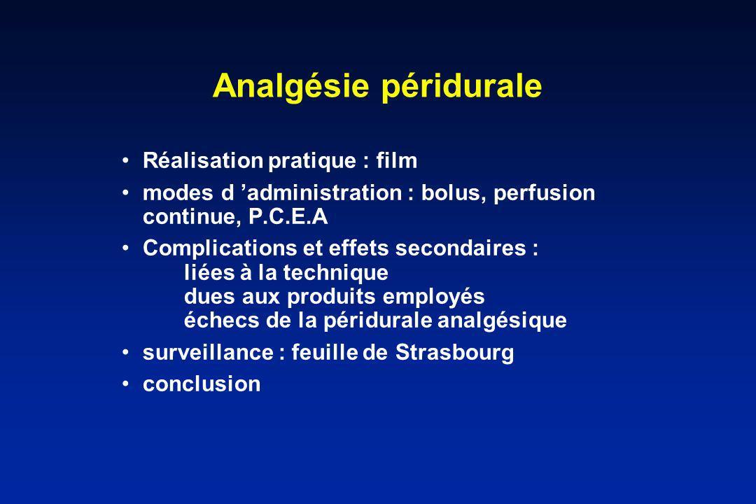 Analgésie péridurale Réalisation pratique : film
