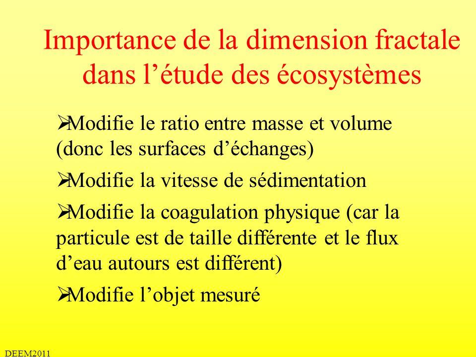 Importance de la dimension fractale dans l'étude des écosystèmes