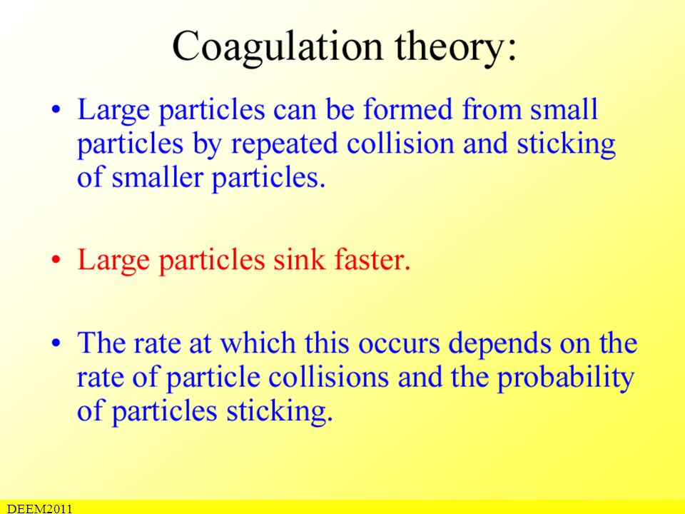 Coagulation theory (1) DEEM2011