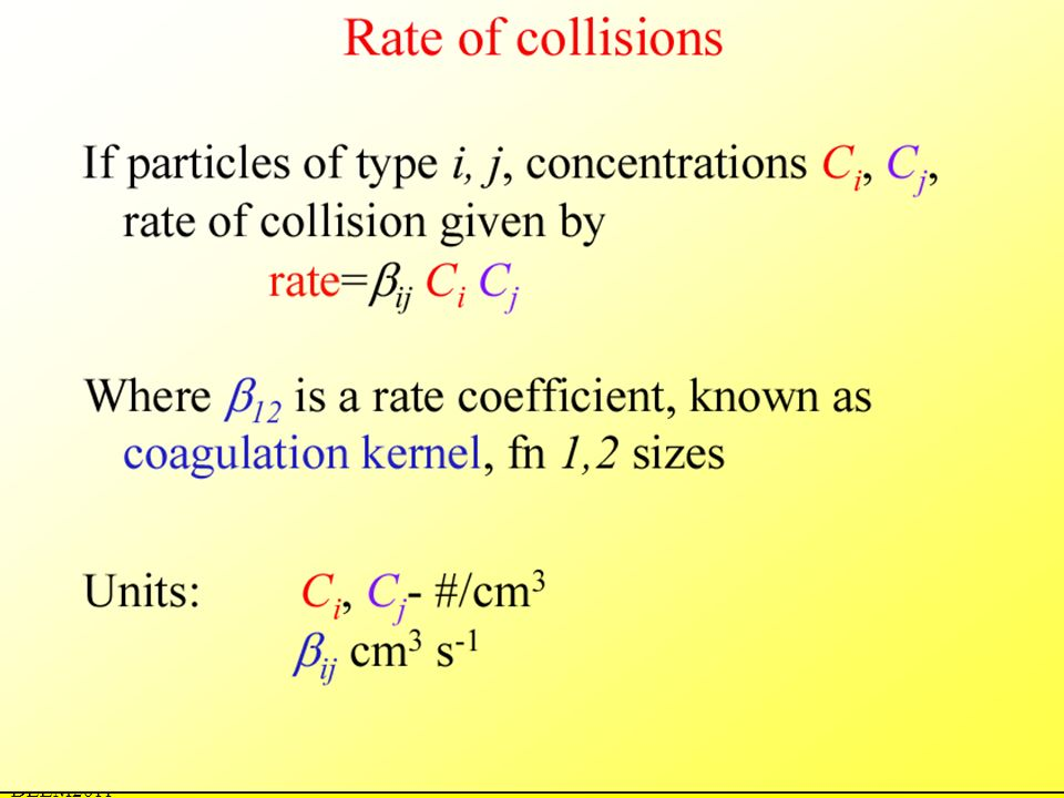 Rates of collision DEEM2011
