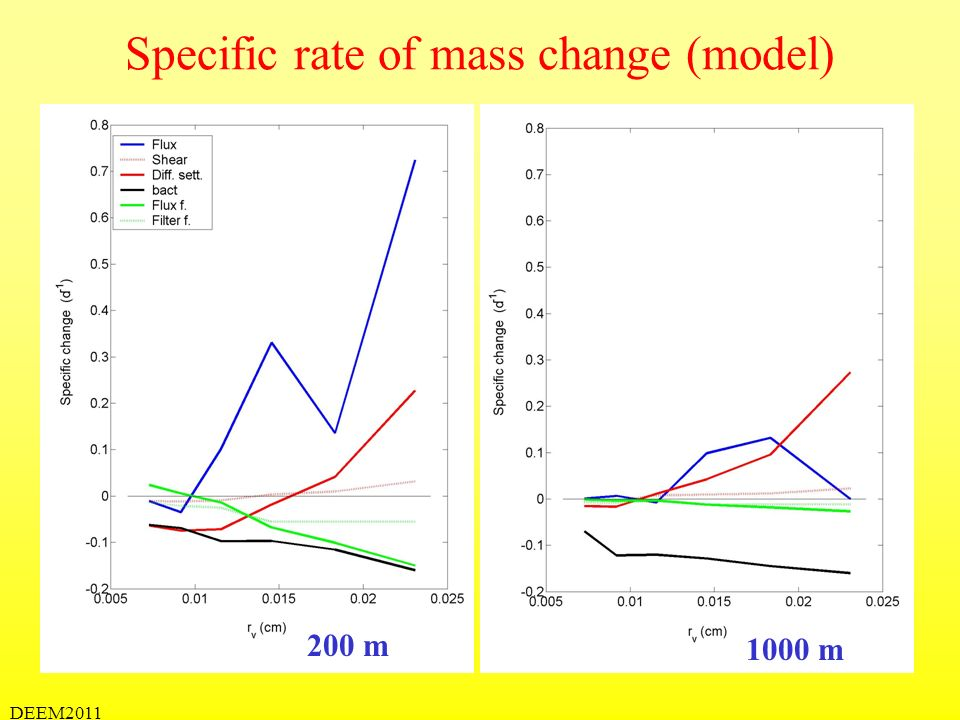 Specific rate of mass change (model)
