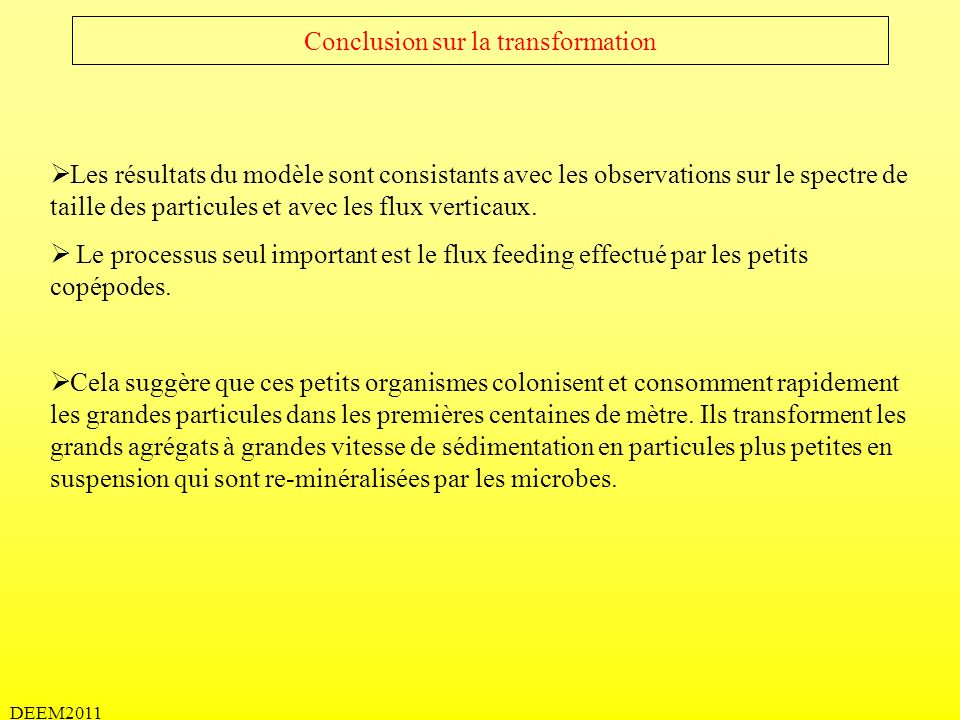 Conclusion sur la transformation
