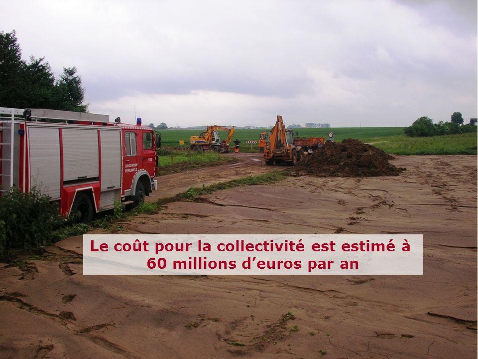 Le coût pour la collectivité est estimé à 60 millions d'euros par an