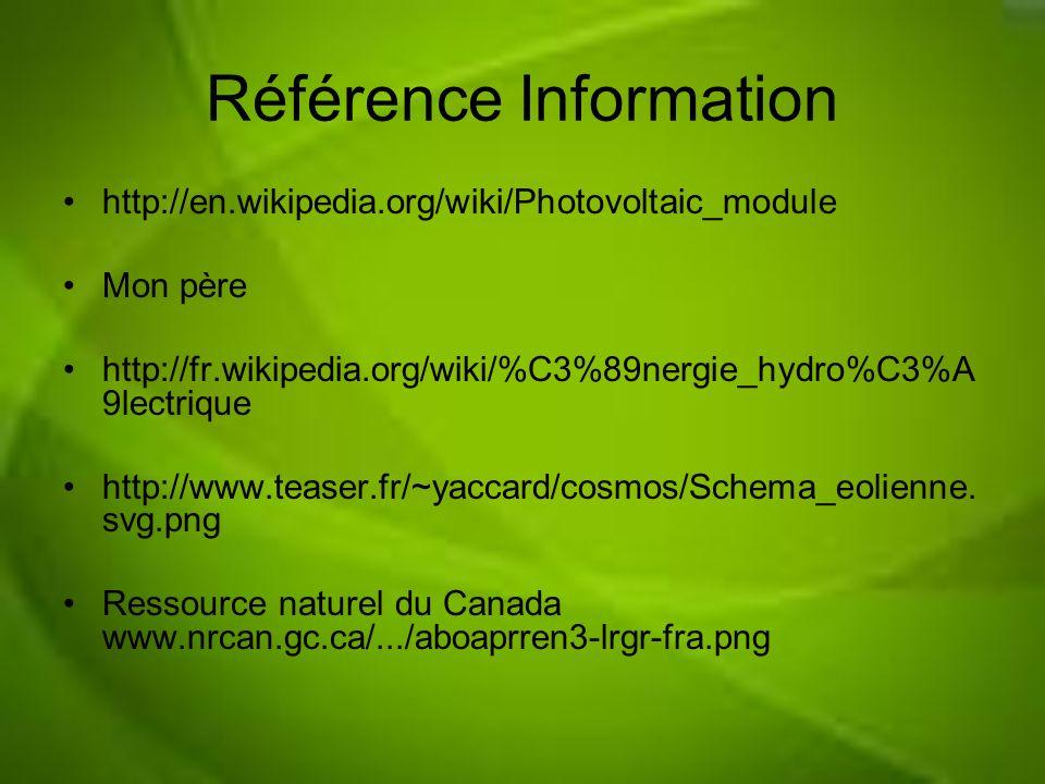 Référence Information