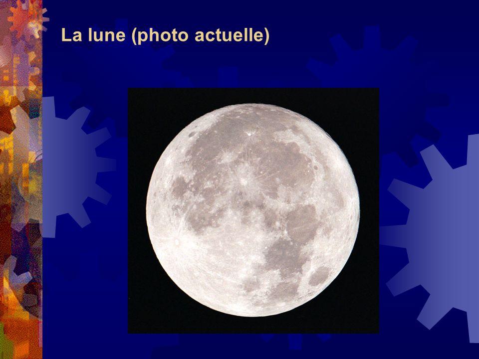 La lune (photo actuelle)
