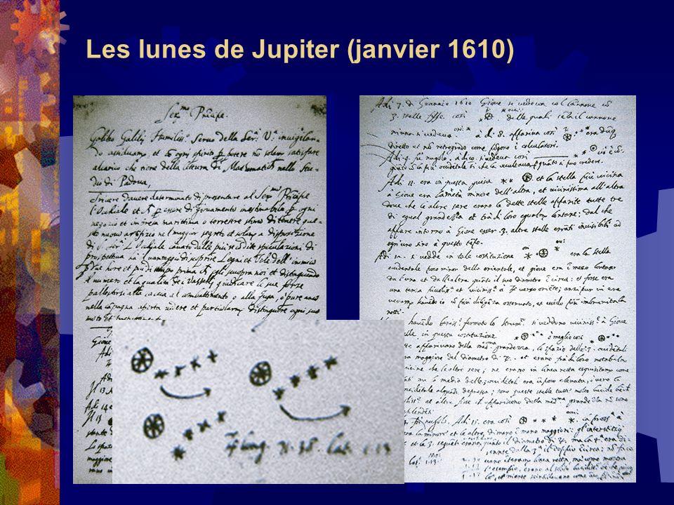 Les lunes de Jupiter (janvier 1610)